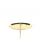 Advent candlestick, diameter 100mm, gold